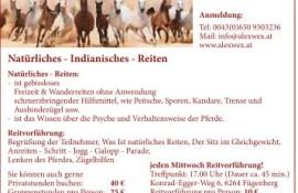 natürliches indianisches reiten