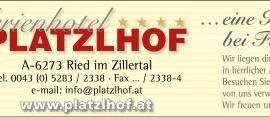 Hotel Platzlhof Zillertal
