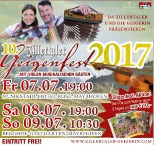 Geigenfest Zillertal