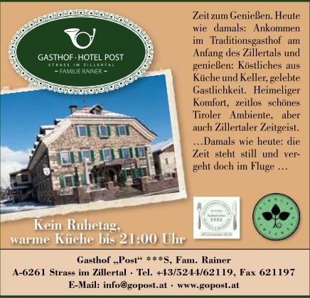 Gasthof Post in Strass
